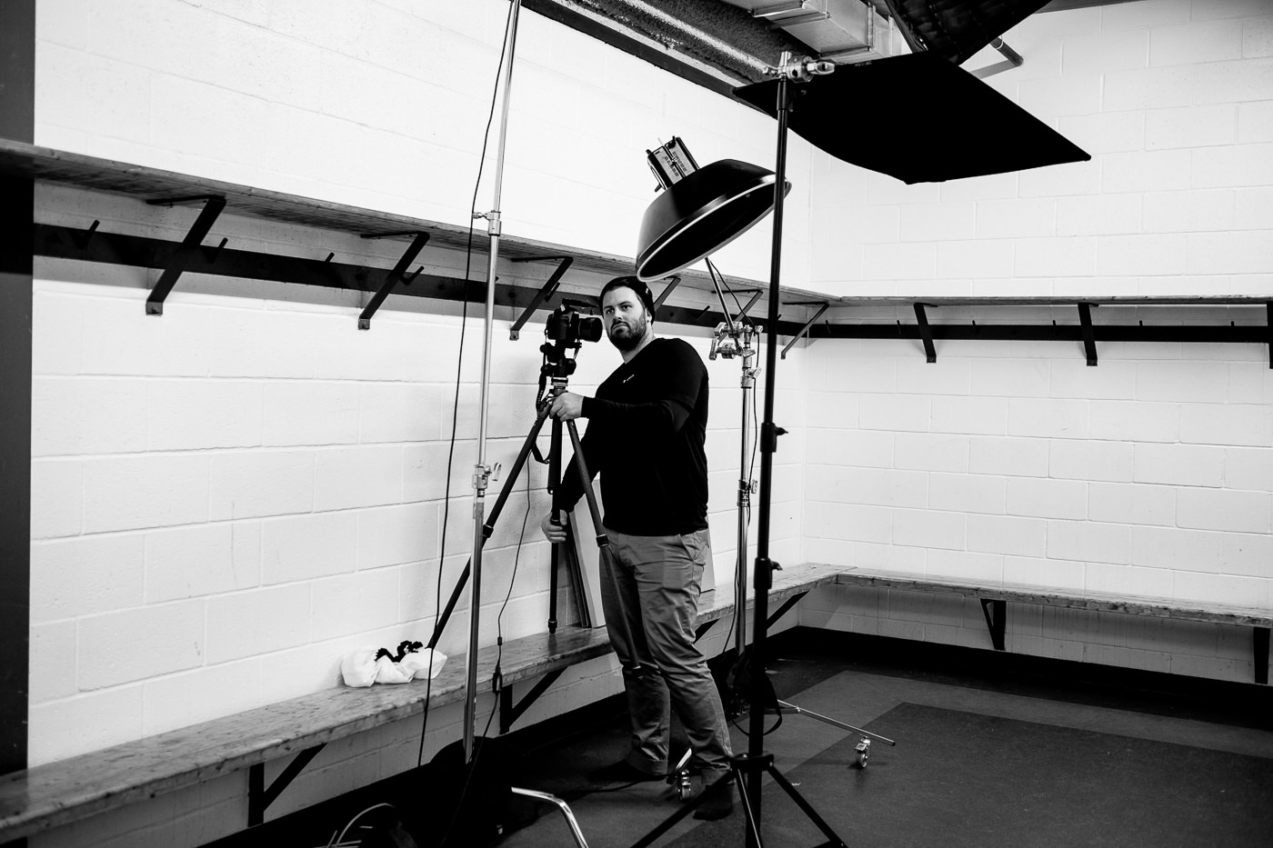 photographie vestiaire hockey arena pour le shooting jeux olympique de sports experts