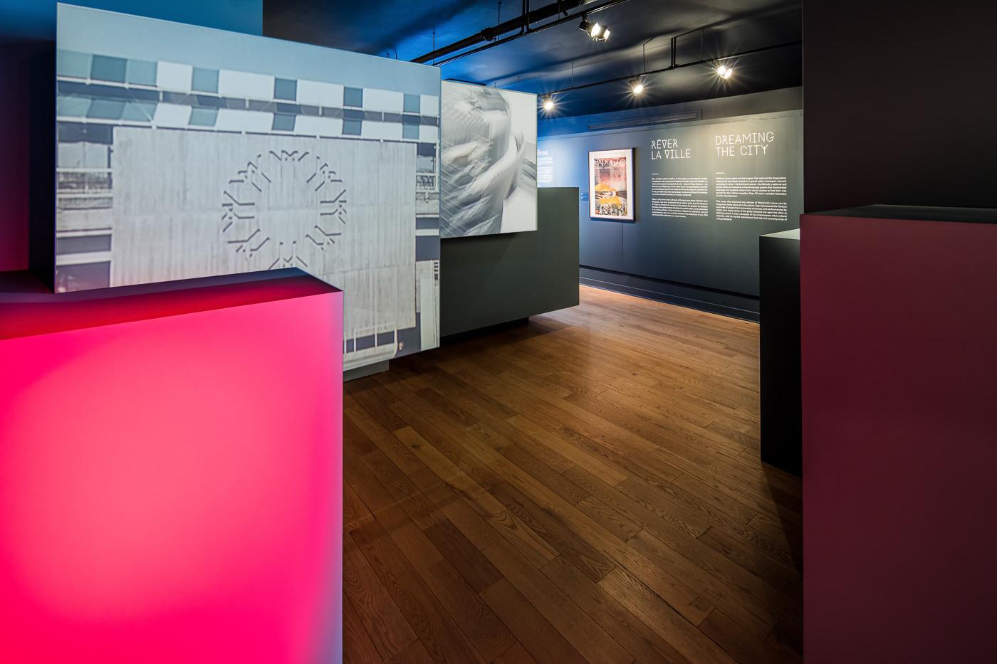 Salle dans l'Expo 67 au Musée Stewart pour le projet design de Rumker