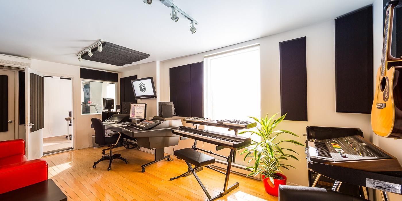 Intérieur du studio de BAM pour leur forfait PME