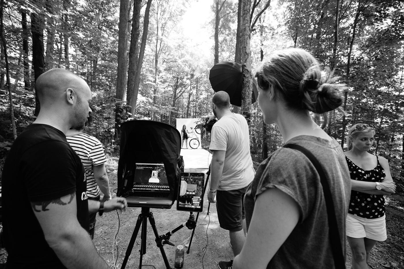 photo behind the scenes campagne my opus velo de montagne
