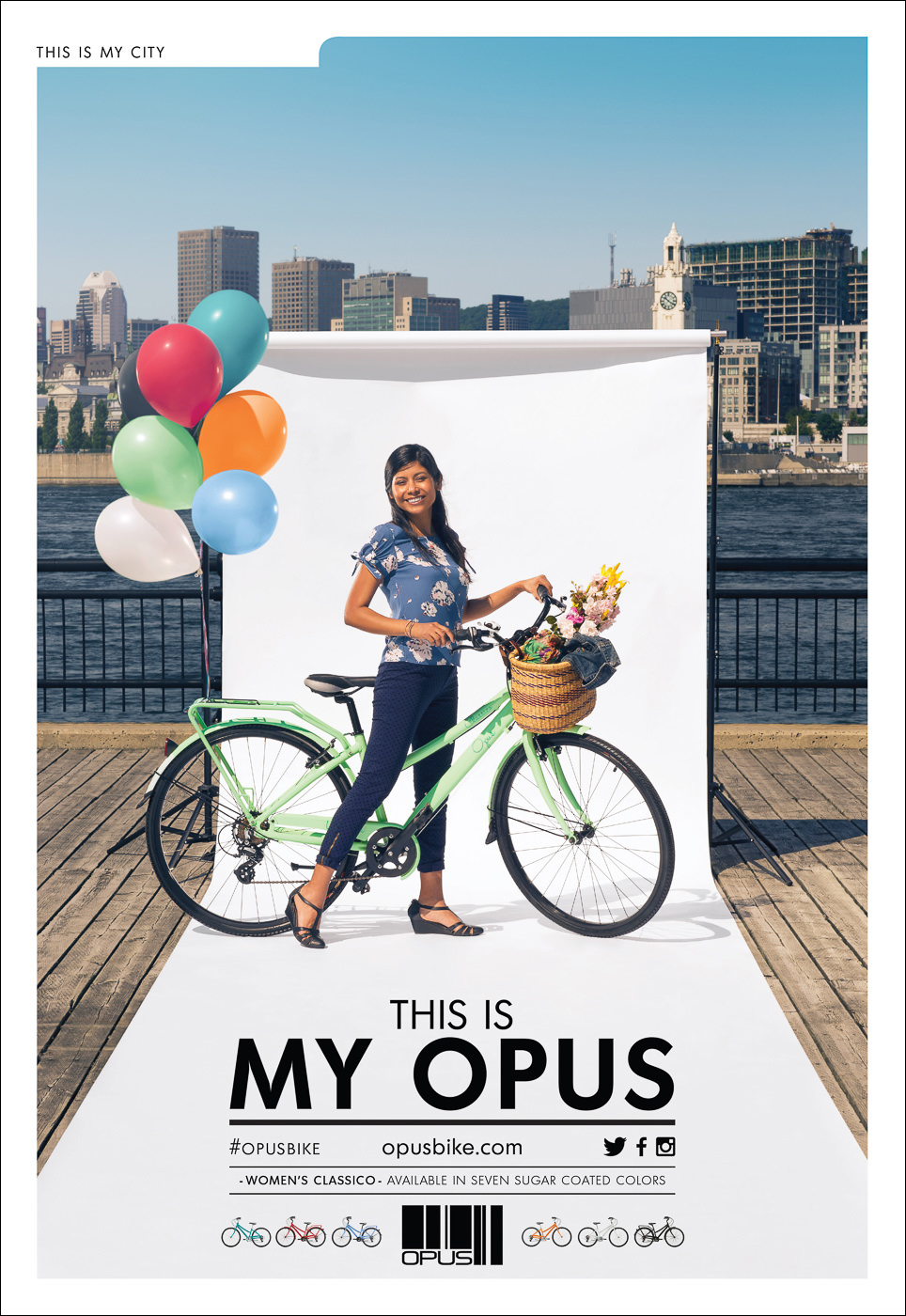 campagne publicite my opus port montreal velo urbain