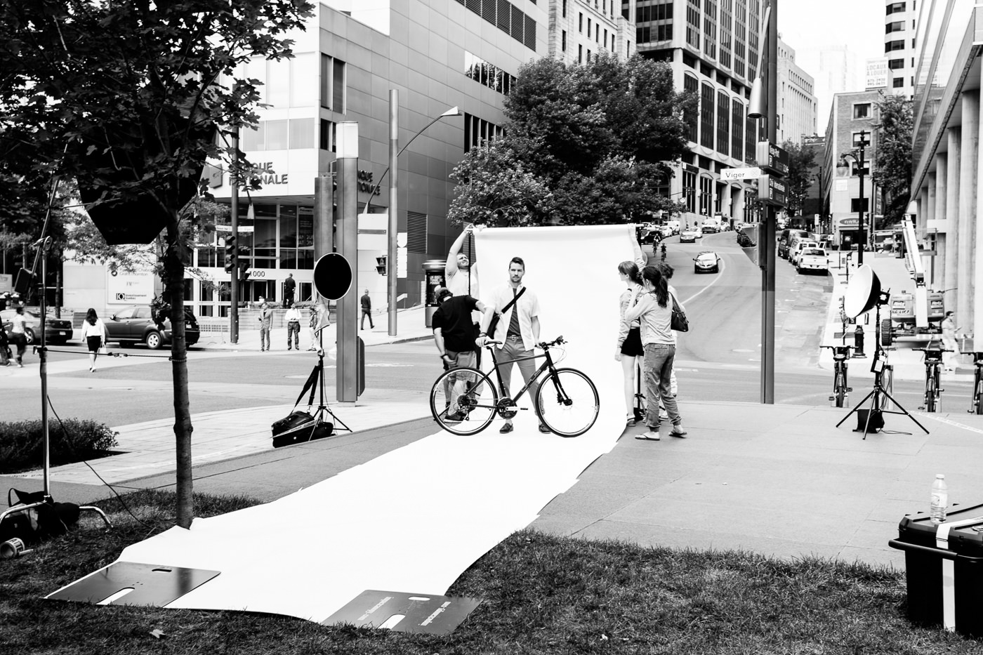 photo behind the scenes campagne my opus downtown montreal