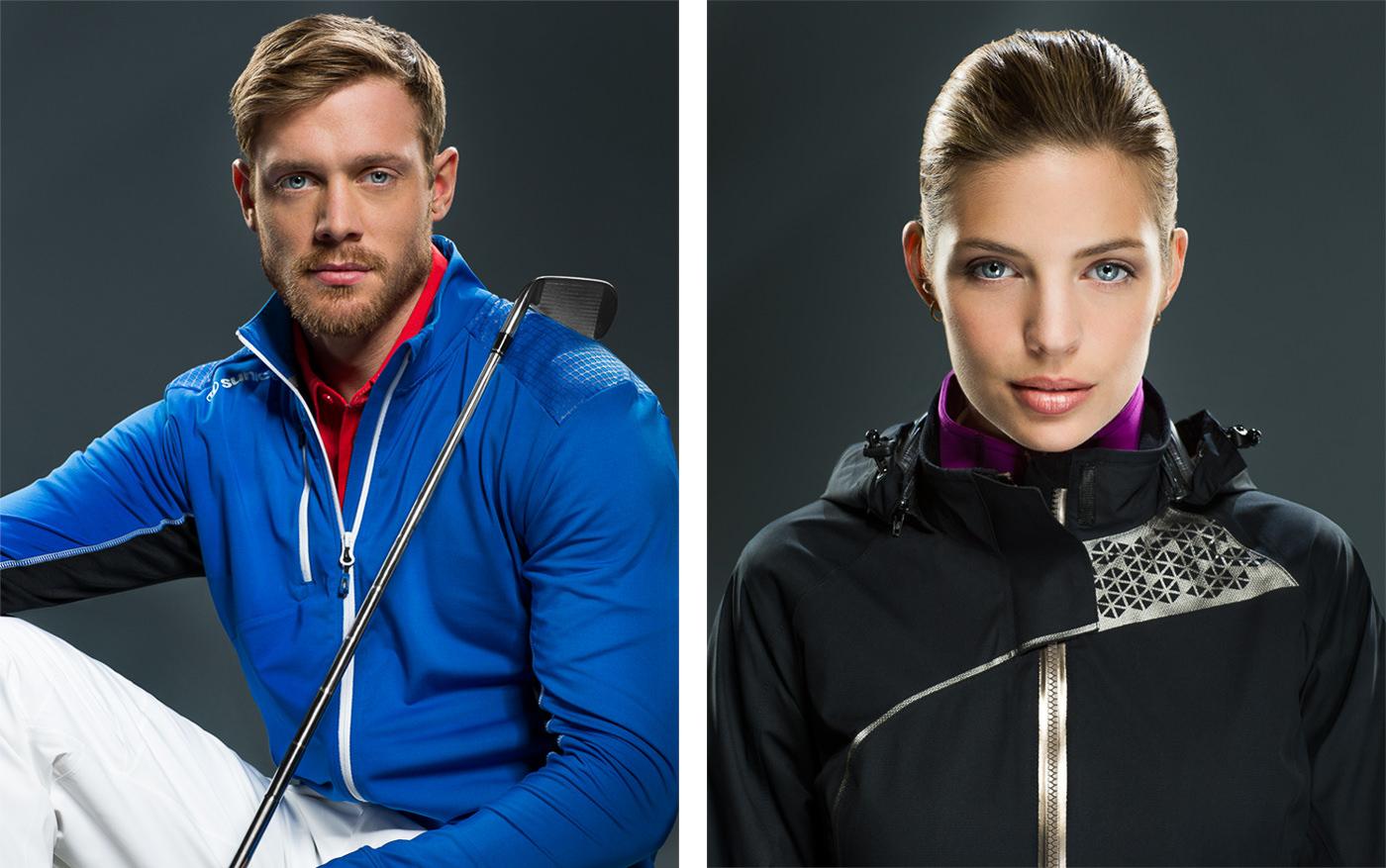 Gear de golf homme et femme portrait