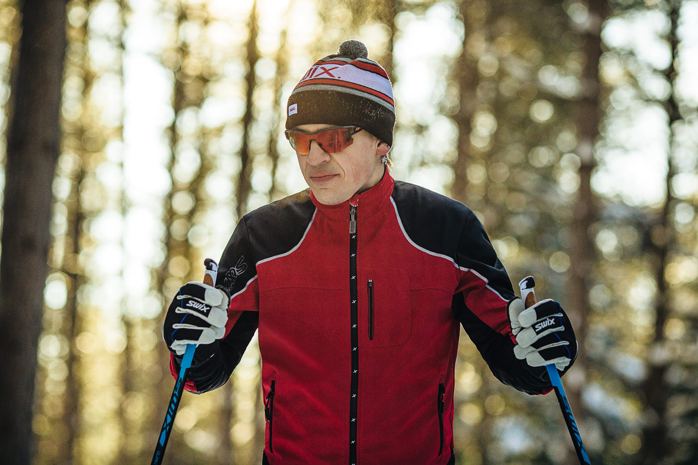 photo commercial ski de fond swix canada close up gear performance
