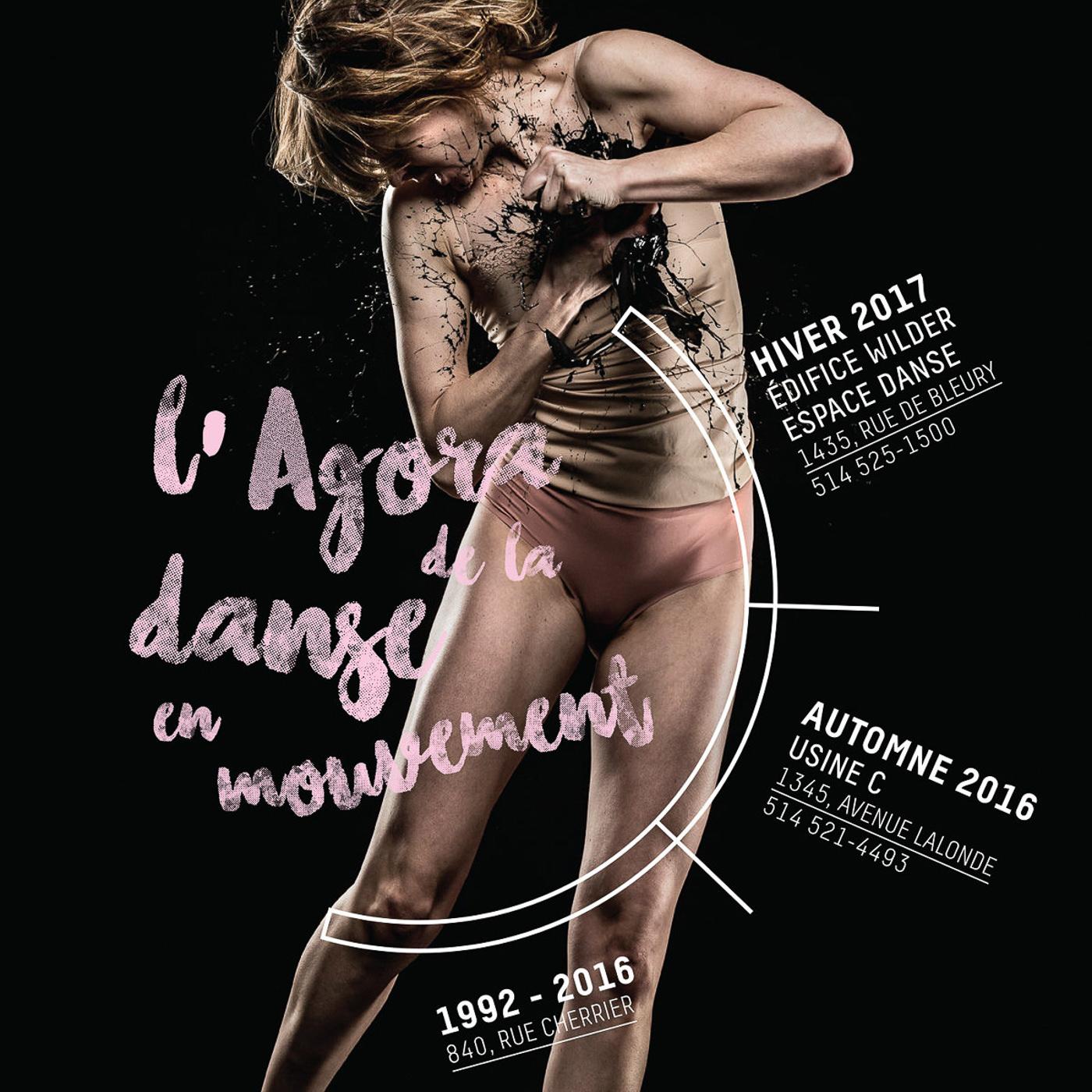 Affiche de l'Agora de la danse en mouvement avec Virginie Brunelle