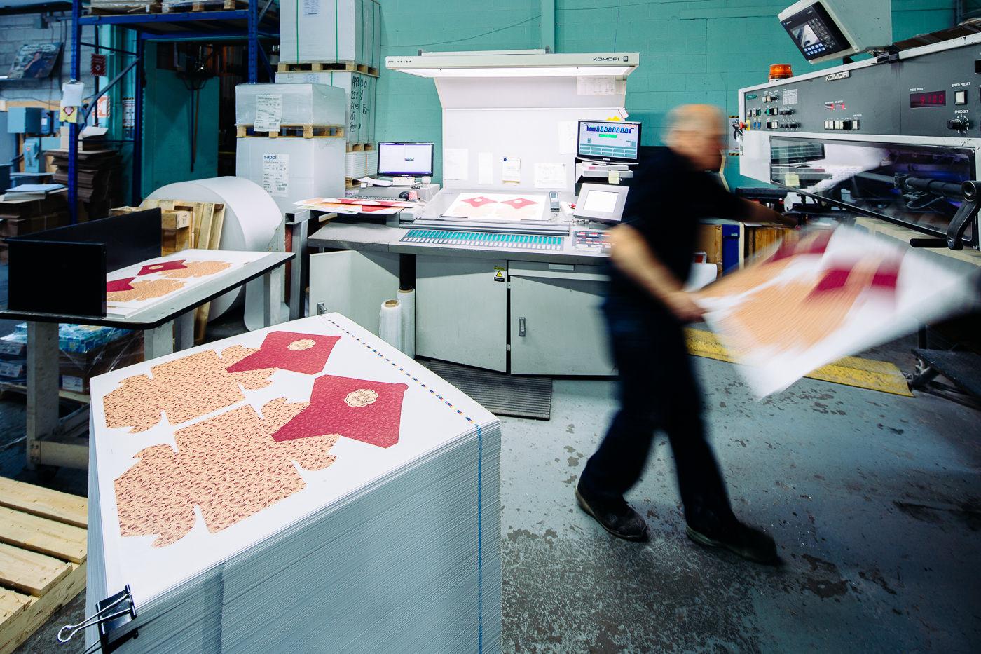 Nap-Art imprimerie procédés et intérieur usine