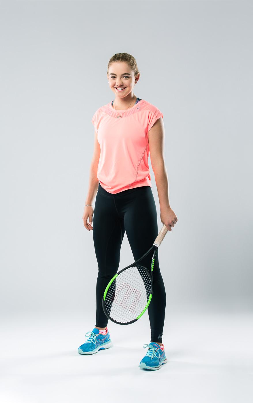 Portrait joueuse équipe Tennis Canada Charlotte Robillard Milette