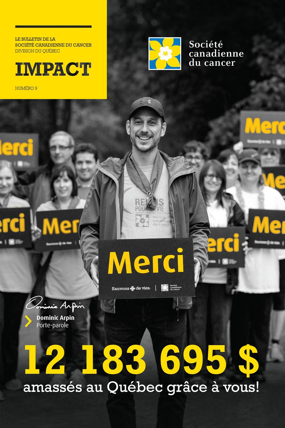Affiche marche Société Canadienne du Cancer Dominic Arpin