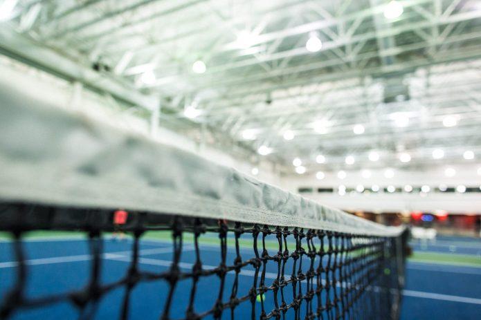 Close Up Filet Au Cours De Tennis Canada Kids