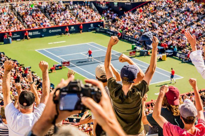 Foule Dans Les Estrades Match Denis Shapovalov Vs. Rafael Nadal à La Coupe Rogers 2017