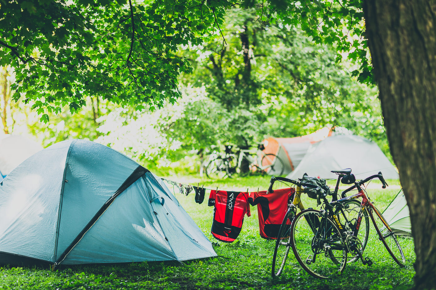 photo événement opus le grand tour vélo camping