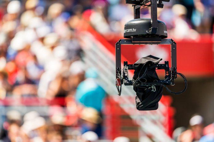 Close Up De Camera De Match Durant La Coupe Rogers 2017 à Montreal