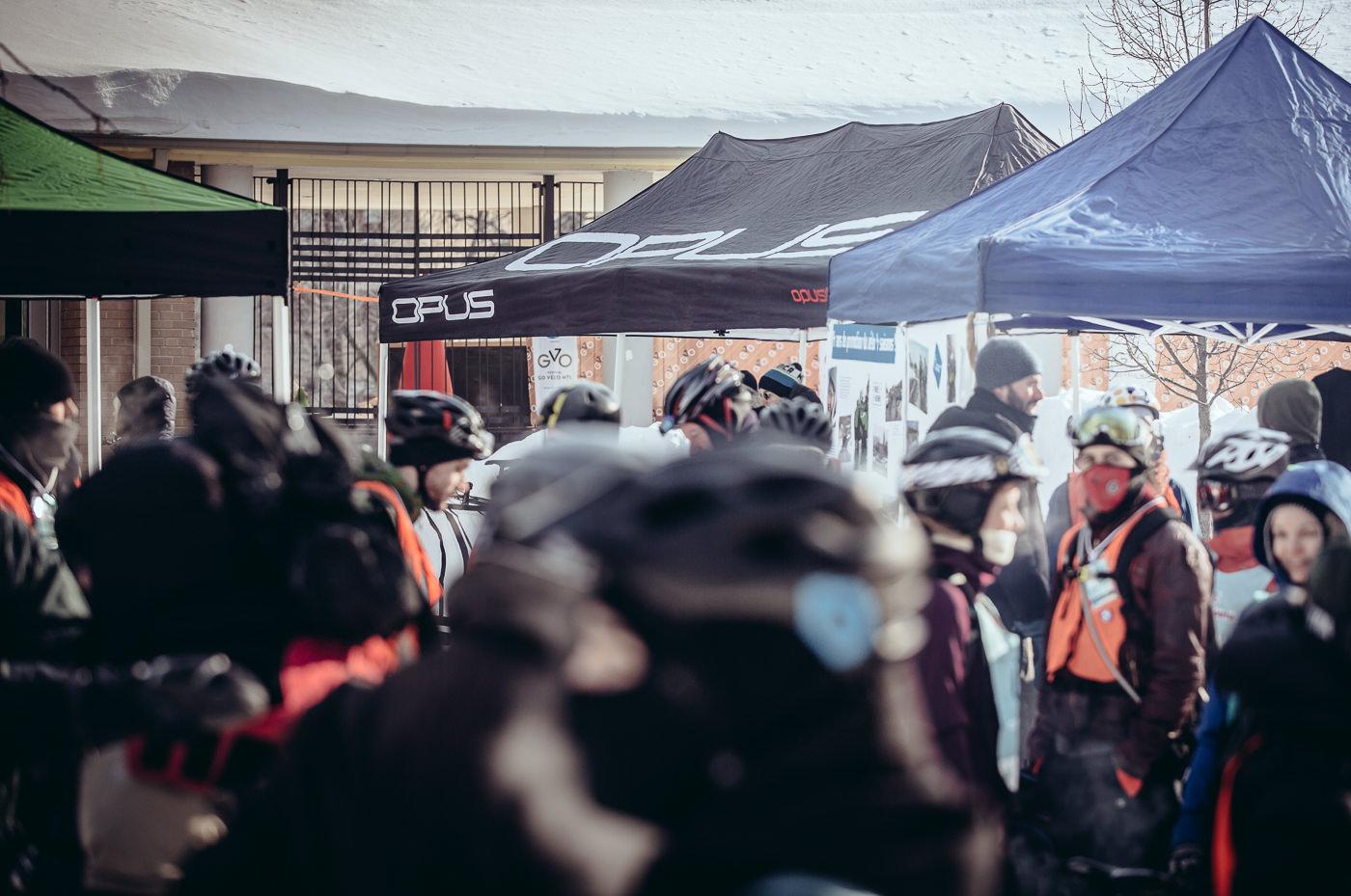 photo événement opus bike course hiver