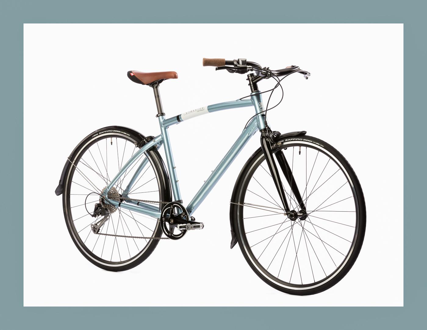 Vélo urbain Opus bike modele classico lightweight bleu pale