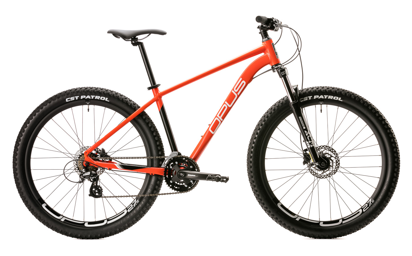 photo de produit velo opus modele de montagne orange