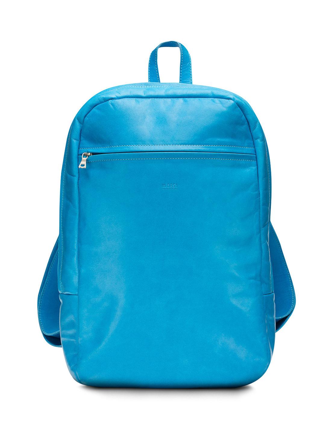 Sac à dos cuir bleu m0851