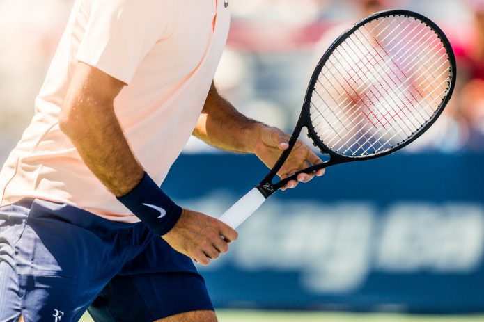 Tennis Canada Coupe Rogers 2017 Close-up Raquette Rogers Federer
