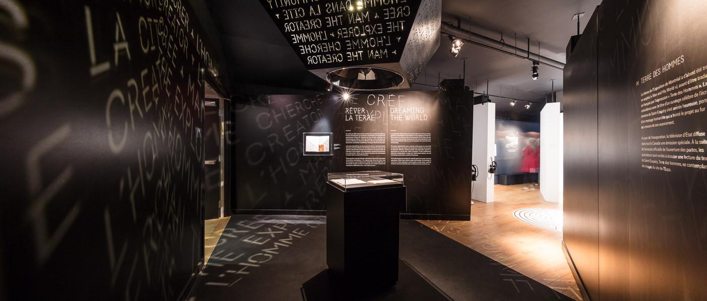 Salle de l'Expo 67 au Musée Stewart pour le projet de Rumker