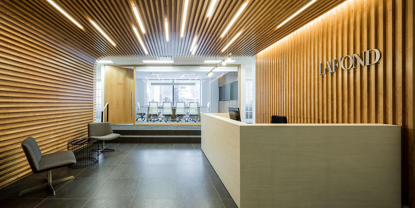 Réception des bureaux du Groupe Lafond architecture et design par rumker