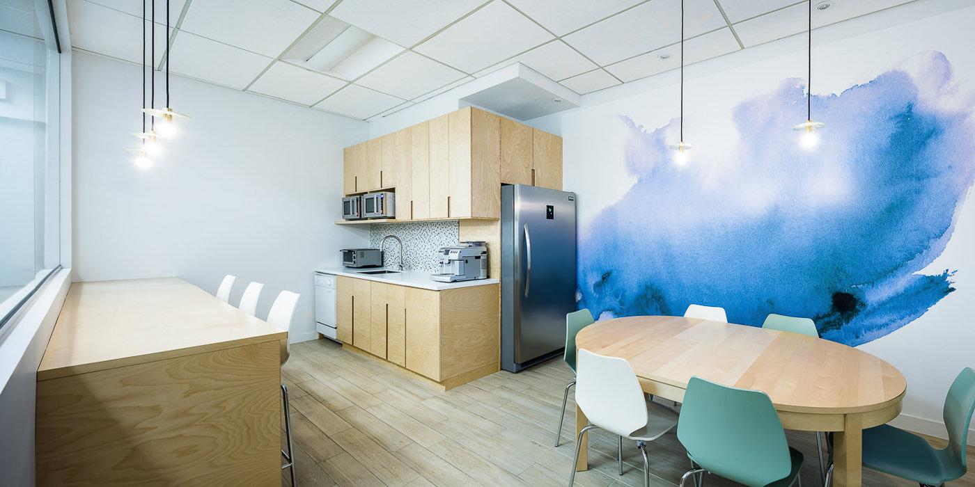 Cuisine des bureaux du Groupe Lafond architecture et design par rumker