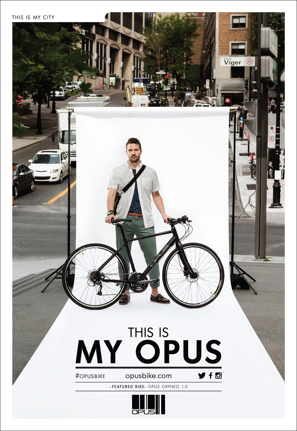 campagne publicite my opus velo hybride orpheo 1.0 urbain
