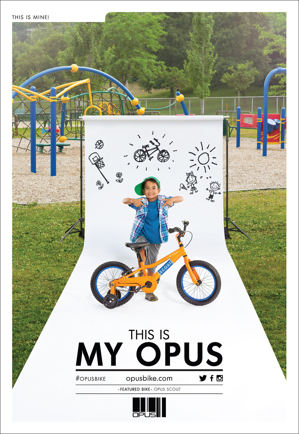 campagne publicite my opus velo enfant modele scout
