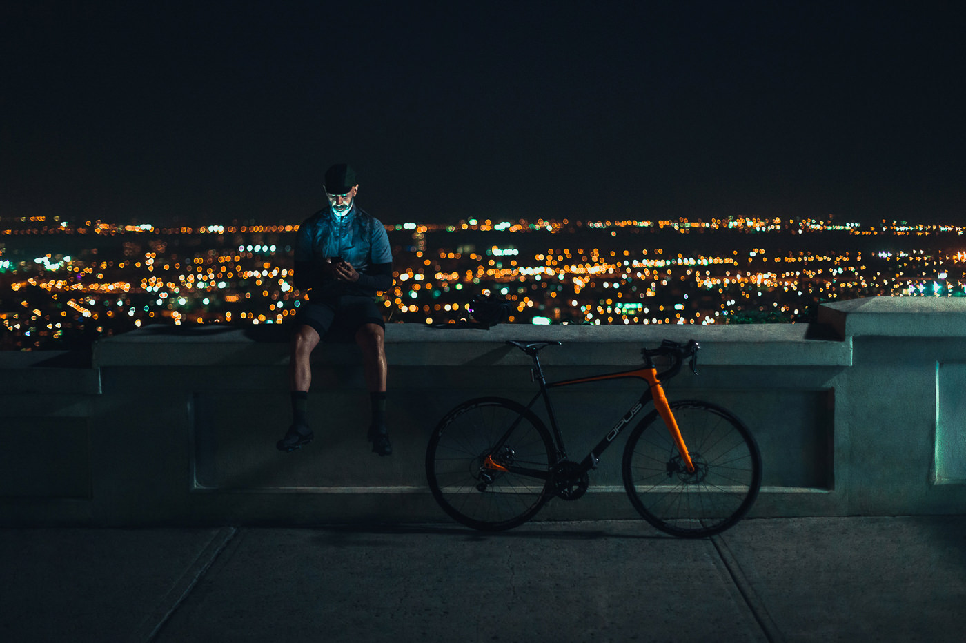 photo camapgne night ride opus belvedere mont royal