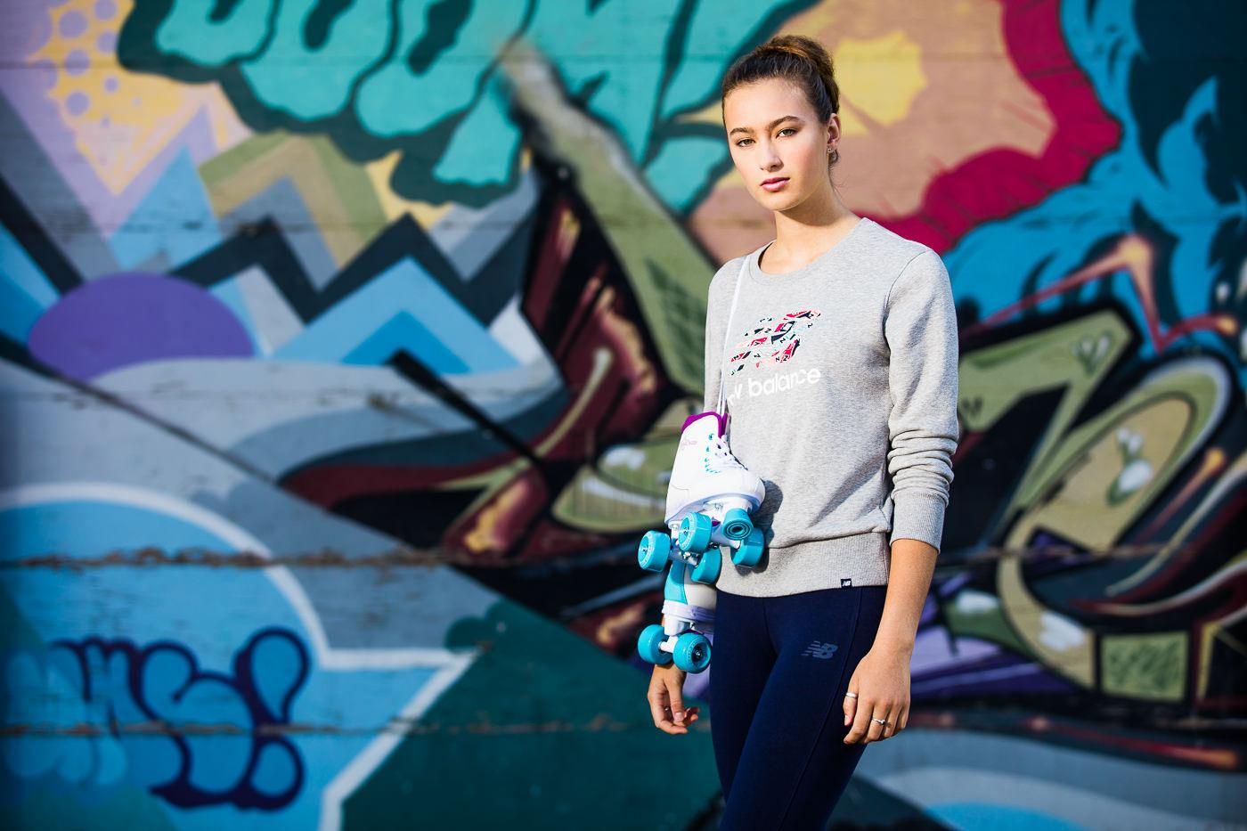 photo commerciale sports experts vetements femmes campagne printemps été urbain
