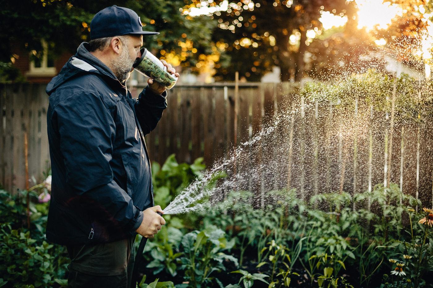 Joebeef dans son jardin pour Opus Bike