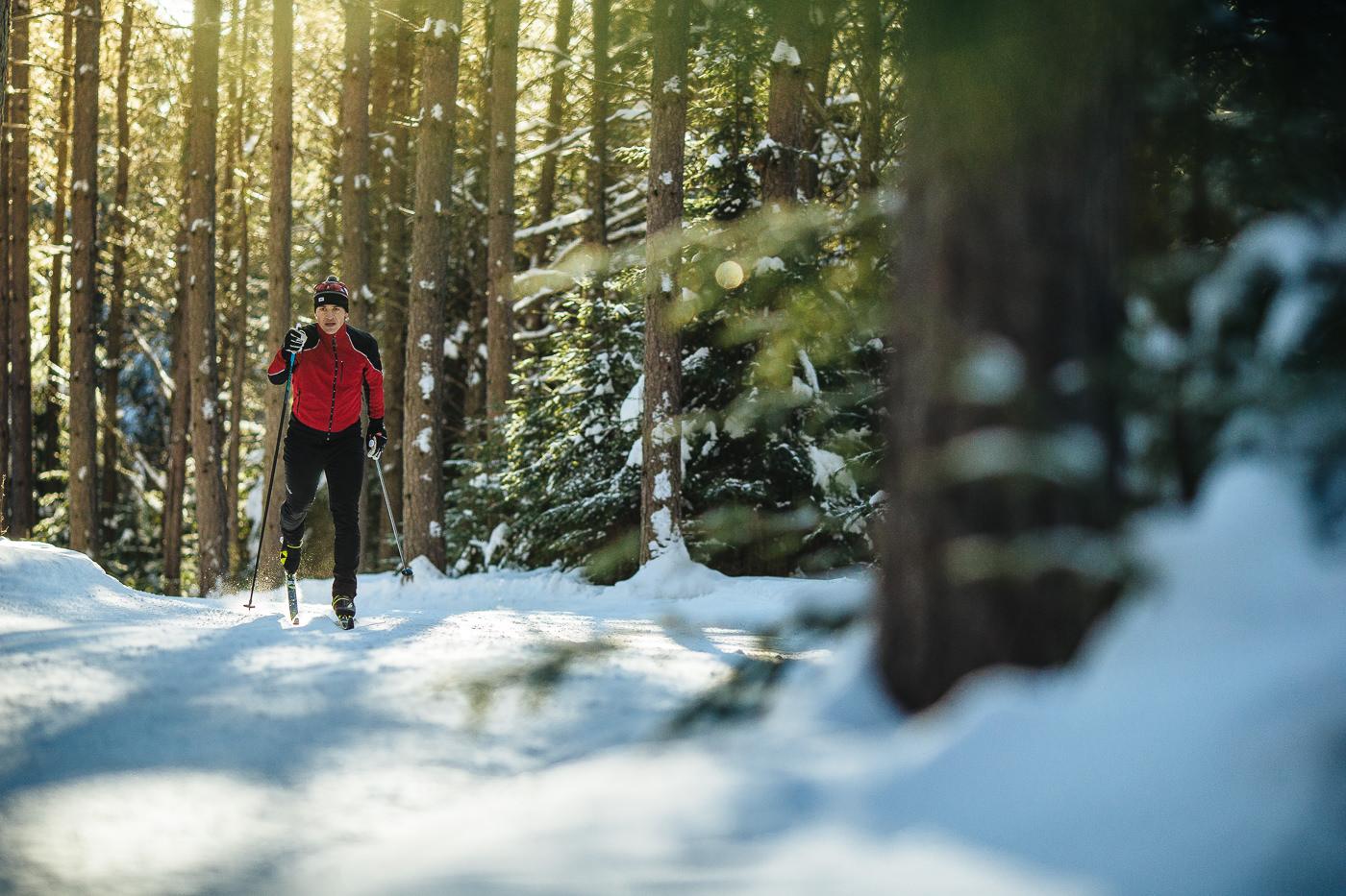 photo commercial ski de fond swix canada performance hiver