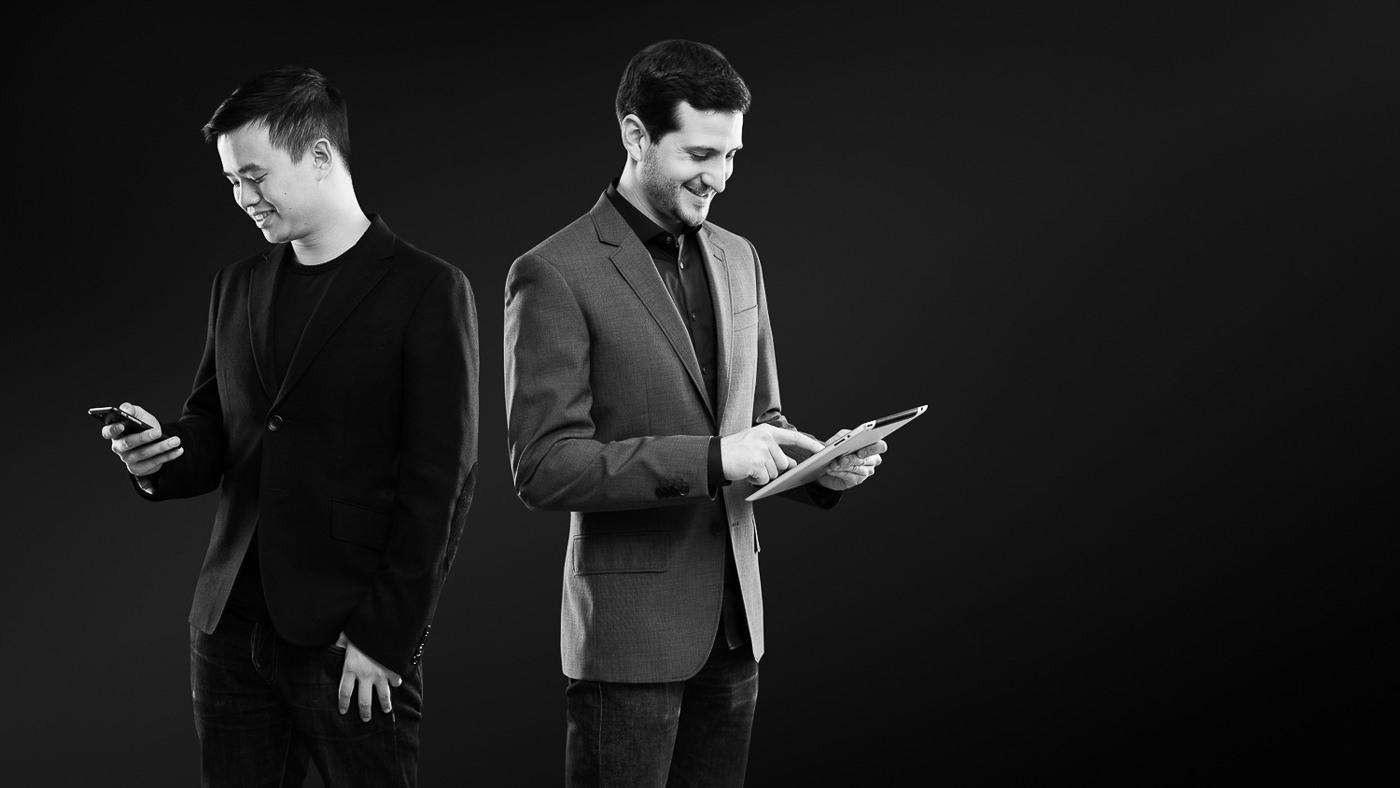 Portrait corporatif entrepreneur technologie