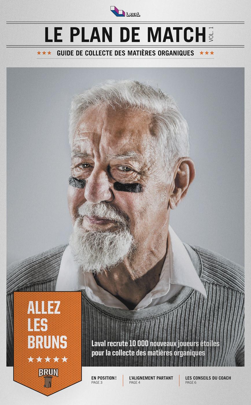 Portrait pour ville de Laval campagne de collecte des matières organiques affiche complète journal
