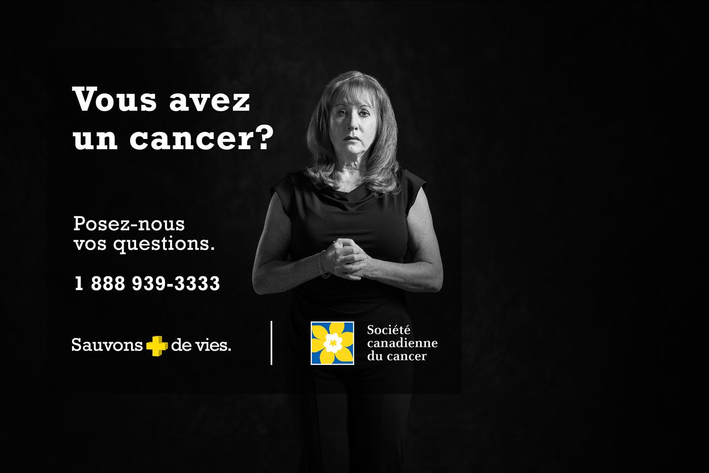 Publicité Société Canadienne du Cancer contact
