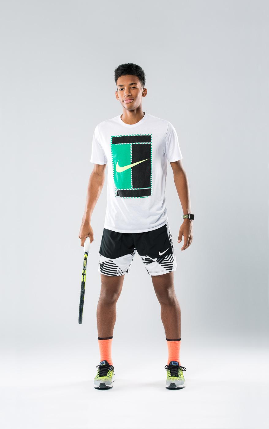 Portrait joueur tennis canada Felix Auger Aliassime