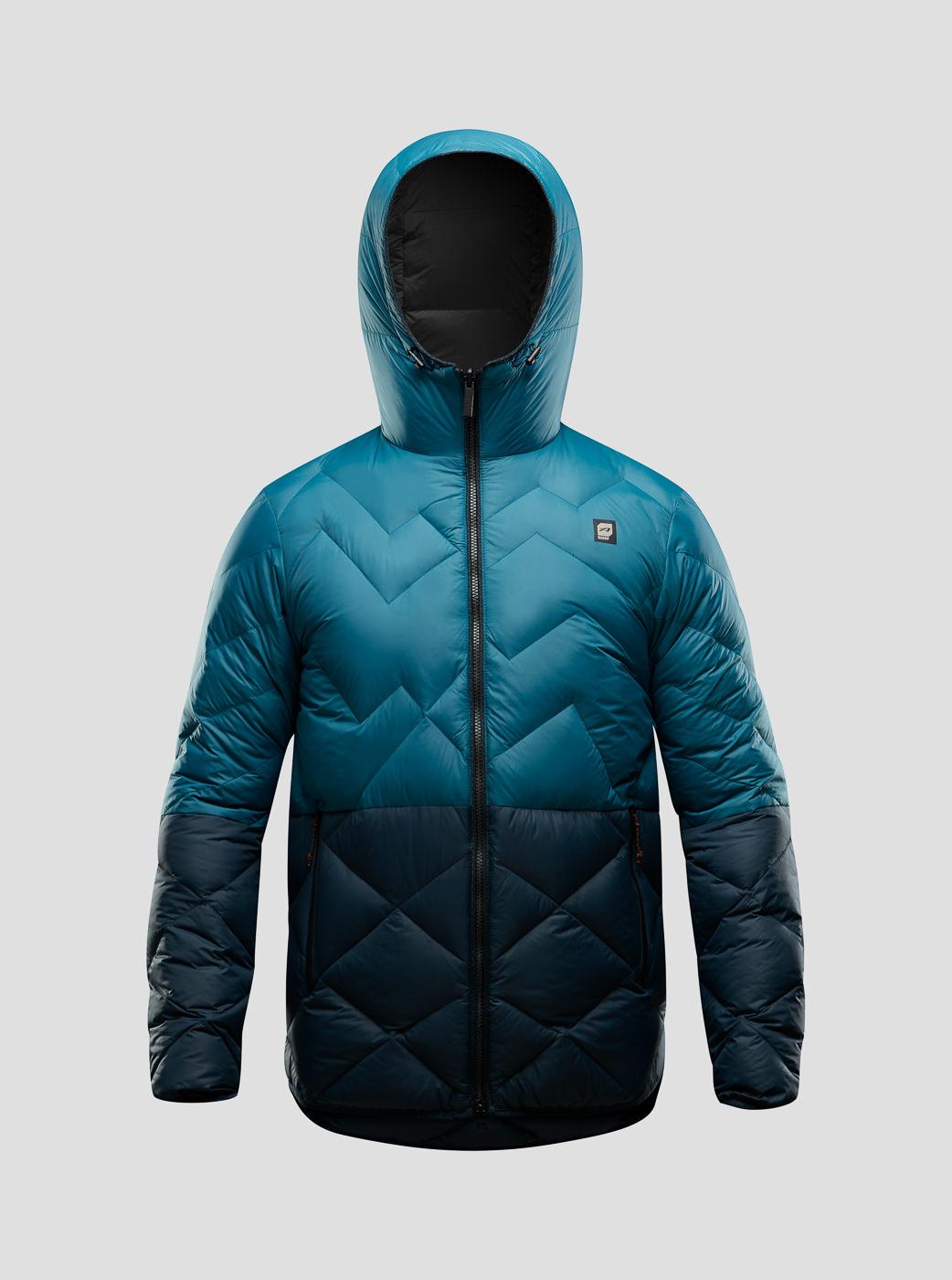 Manteau hiver bleu deux couleurs Orage FW17