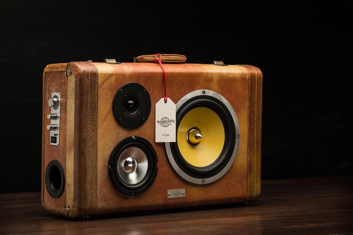 boite de son vintage sumcase audio
